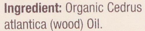 Essential Oil Cedarwood Organic 100% Pure 0.5 Fluid Ounce 15 Ml
