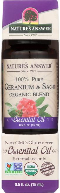 Essential Oil Geranium & Sage Organic Blend