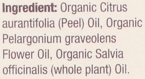 Essential Oil Geranium & Sage Organic Blend 100% Pure 0.5 Fluid Ounce 15 Ml
