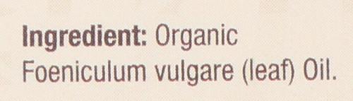 Essential Oil Fennel Organic 100% Pure 0.5 Fluid Ounce 15 Ml