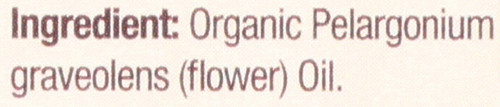 Essential Oil Geranium Organic 100% Pure 0.5 Fluid Ounce 15 Ml