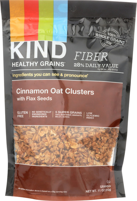 Grains Clusters Cinnamon Oat With Flax Seeds