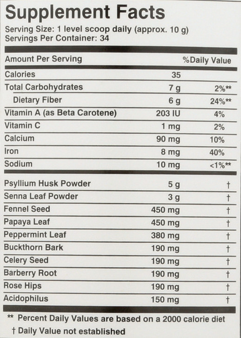 Super Colon Cleanse® Powder With Herbs & Acidophilus 12oz 340 G