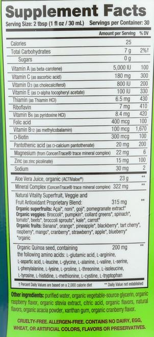 Organic Life Vitamins Liquid 30 Fl oz 887 Ml