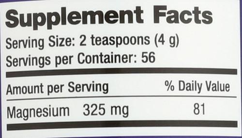 Natural Calm Raspberry Lemon Magnesium 8oz 226 G