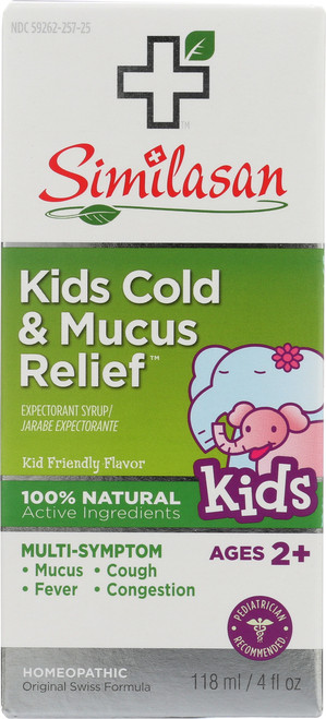 Kids Cold & Mucus Relief Syrup Kid Friendly Flavor