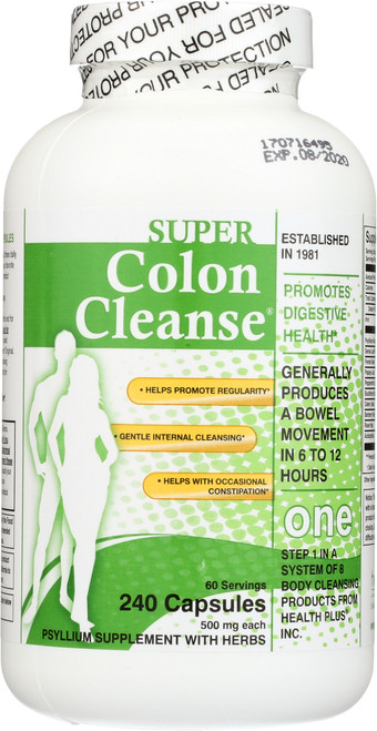 Super Colon Cleanse® Capsules With Herbs & Acidophilus