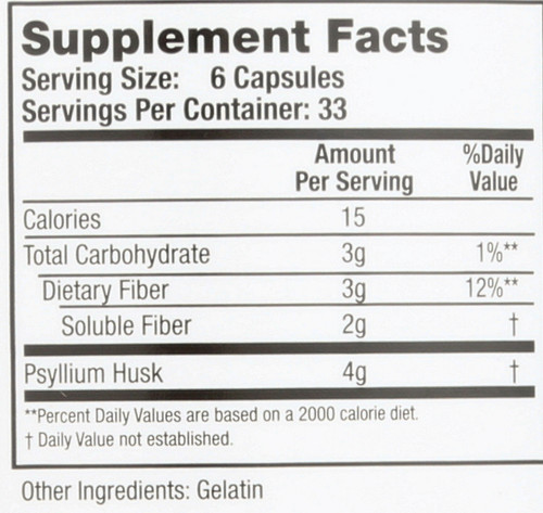 Colon Cleanse Regular Unflavored  200 Capsules 33 Servings