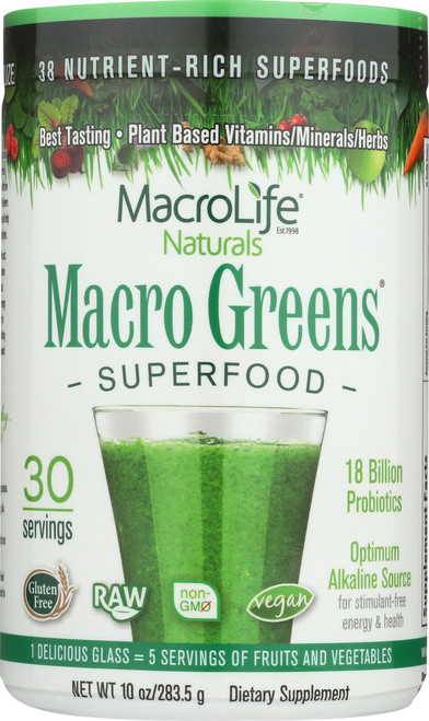 Macro Greens® Superfood Powder 30-Srv Container