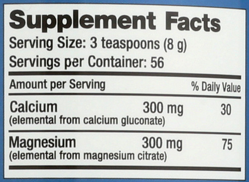 Dietary Supplement Original Unflavored Calmag 16oz 454 G