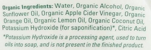 Veggie Wash W/Trigger Sprayer Organic 16 Fl oz 473 Ml