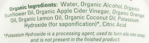 Veggie Wash Soaker Bottle Organic 32 Fl oz 946 Ml