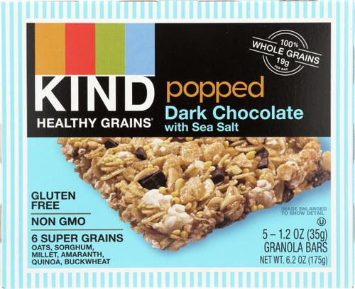 Popped Dark Chocolate With Sea Salt