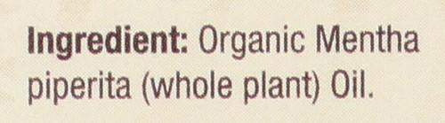 Essential Oil Organic Peppermint  0.5 Fl oz 15 Ml