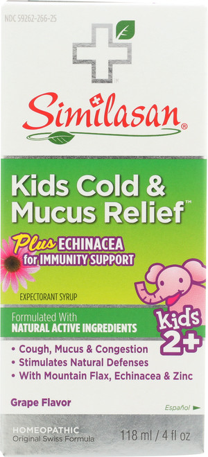 Kids Cold & Mucus Relief Plus Echinacea Syrup Homeopathic