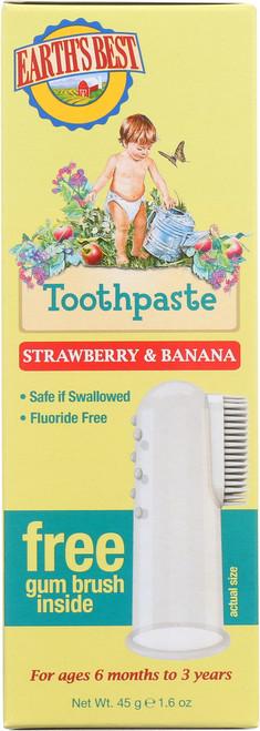 Toothpaste Toddler Straw Banana Og Jsn Earth'S Best Toddler Toot