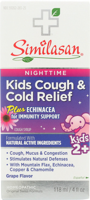 Kids Cough & Cold Relief Plus Echinacea Syrup Homeopathic
