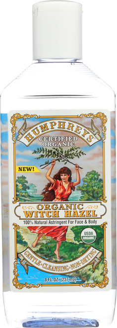 Humphreys® Certified Organic Witch Hazel  100% Natural Astringent For Face & Body