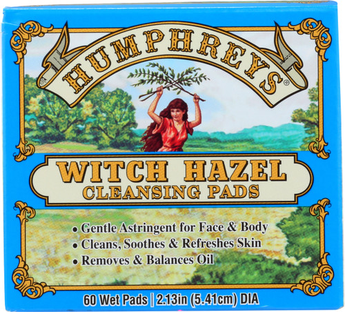 Witch Hazel Cleansing Pads Gentle Astringent For Face & Body