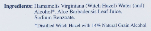 Witch Hazel Cleansing Pads Gentle Astringent For Face & Body Remove Oil 60 Pads 2.13 Inch