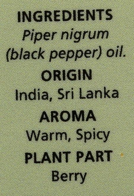 Black Pepper Essential Oil  0.5 Fl oz 15 Ml
