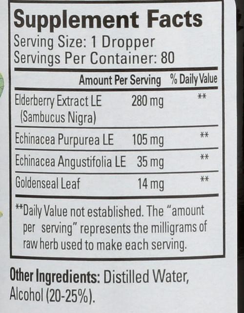 Immune Support Liquid Extract Elderberry,Echinacea, Goldenseal Leaf Tincture 2 Fl oz 59 Ml