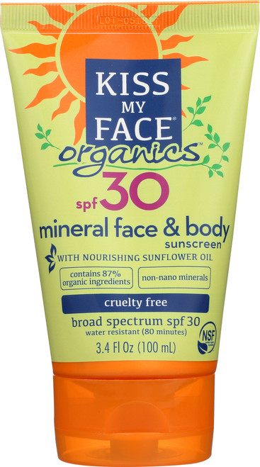 Face & Body Mineral Sunscreen Spf 30