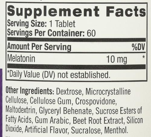Vitamin/Supplements Melatonin 10Mg Fast Dissolve 60 Tablets