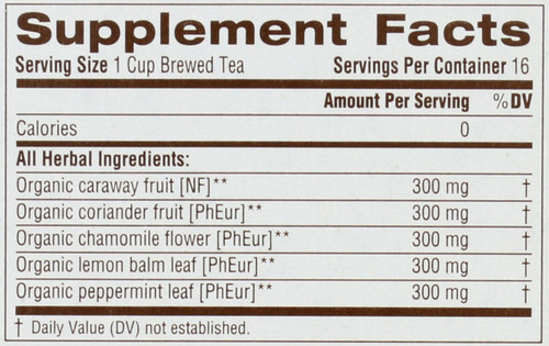 Bagged Tea Gas Relief™ Herbal Supplement 16 Tea Bag 0.85oz