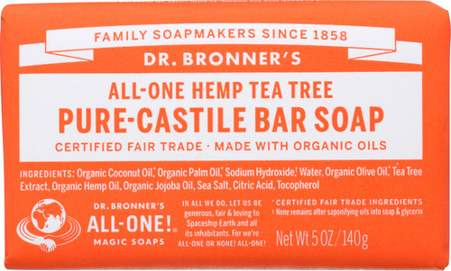 Bar Soap All-One Hemp Tea Tree