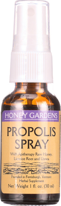 Propolis Spray With Apitherapy, Raw Honey, Licorice Root, And Usnea