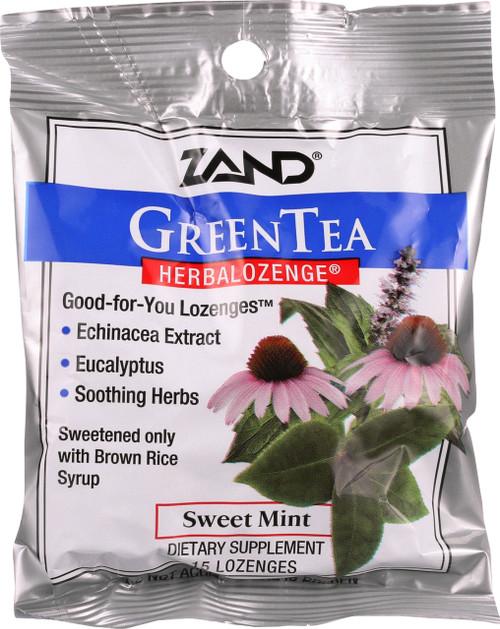 Green Tea Herbal Lozenge Sweet Mint