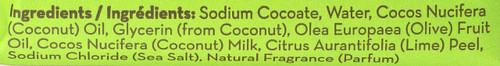 Coconut Milk Bar Soap W/Lime Peel Pure Coconut Milk With Lime Peel 86% Coconut 5oz