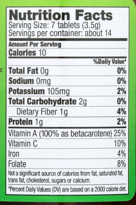 Wheat Grass Tablets  100 Tablets 500 Mg