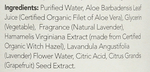 Witch Hazel Alcohol-Free Toner Lavender Aloe Vera Formula 12 Fl oz 355 Ml