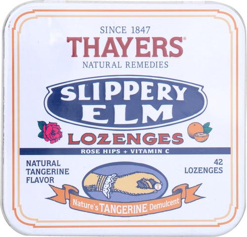 Slippery Elm Lozenges  Natural Tangerine
