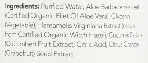 Witch Hazel Alcohol-Free Toner Cucumber Aloe Vera Formula 12 Fl oz 355 Ml