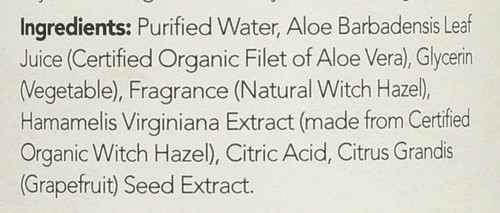Witch Hazel Alcohol-Free Toner Original Aloe Vera Formula 12 Fl oz 355 Ml