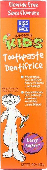 Berry Smart Toothpaste W/O Fluoride Kids Berry Smart