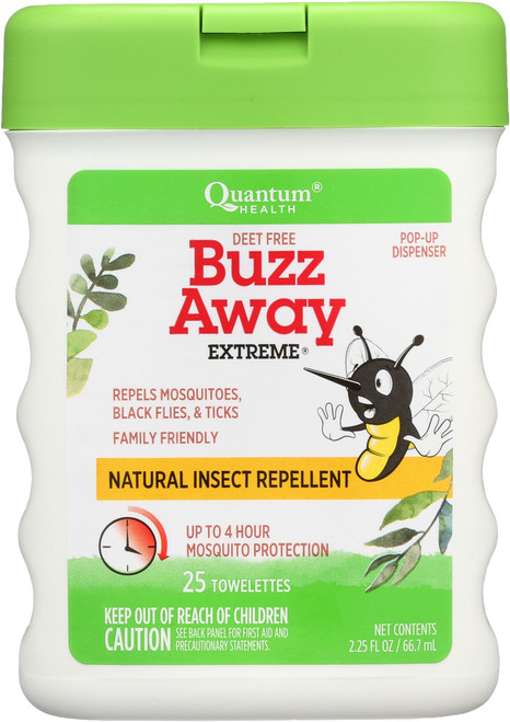 Buzz Away Extreme 25 Ct Towelettes Natural Insect Repellent