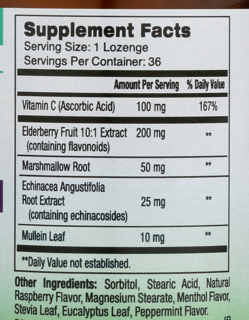 Elderberry+ Immune Defense Lozenges Lozenges Immune Support 36 Lozenges