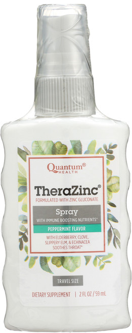 Therazinc Throat Spray Immune Support Peppermint Flavor Throat Spray