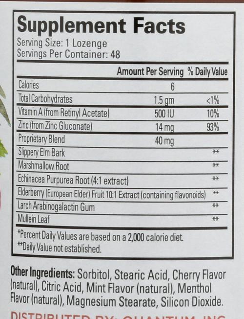 Thera Zinc Natural Cherry-Mint Echinacea 48 Lozenges