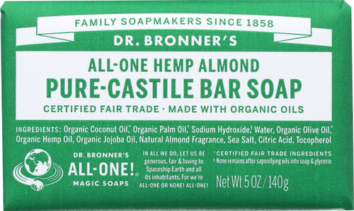 Bar Soap All-One Hemp Almond