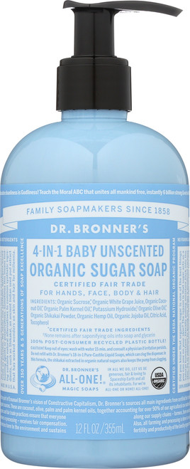 Hand Soap Baby-Unscented Organic Sugar