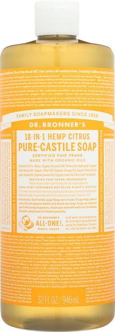 Liquid Soap 18-In-1 Hemp Citrus Orange