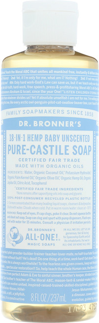 Liquid Soap 18-In-1 Hemp Baby-Unscented