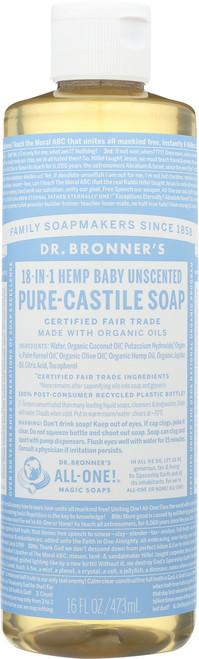 Liquid Soap 18-In-1 Hemp Baby Unscented