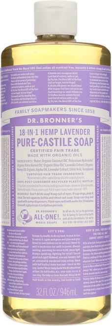 Liquid Soap 18 - In - 1 Hemp Lavender