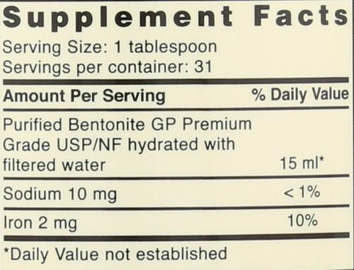 Great Plains® Bentonite Detox Dietary Supplement 16 Fluid Ounce 473 Ml